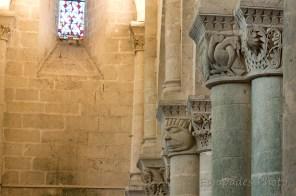 Saint-Pierre d'Aulnay - Chapiteaux en perspectiv