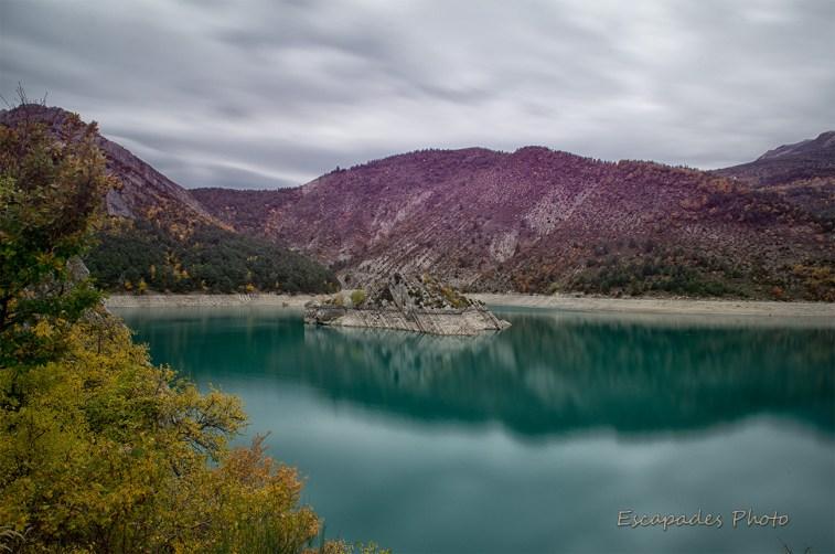 Ilôt - ravin de Cheiron - Lac de Castillon
