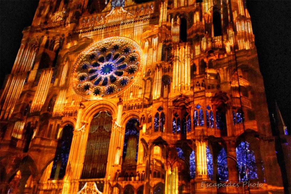 Chartres le Portail Royal - scénographie