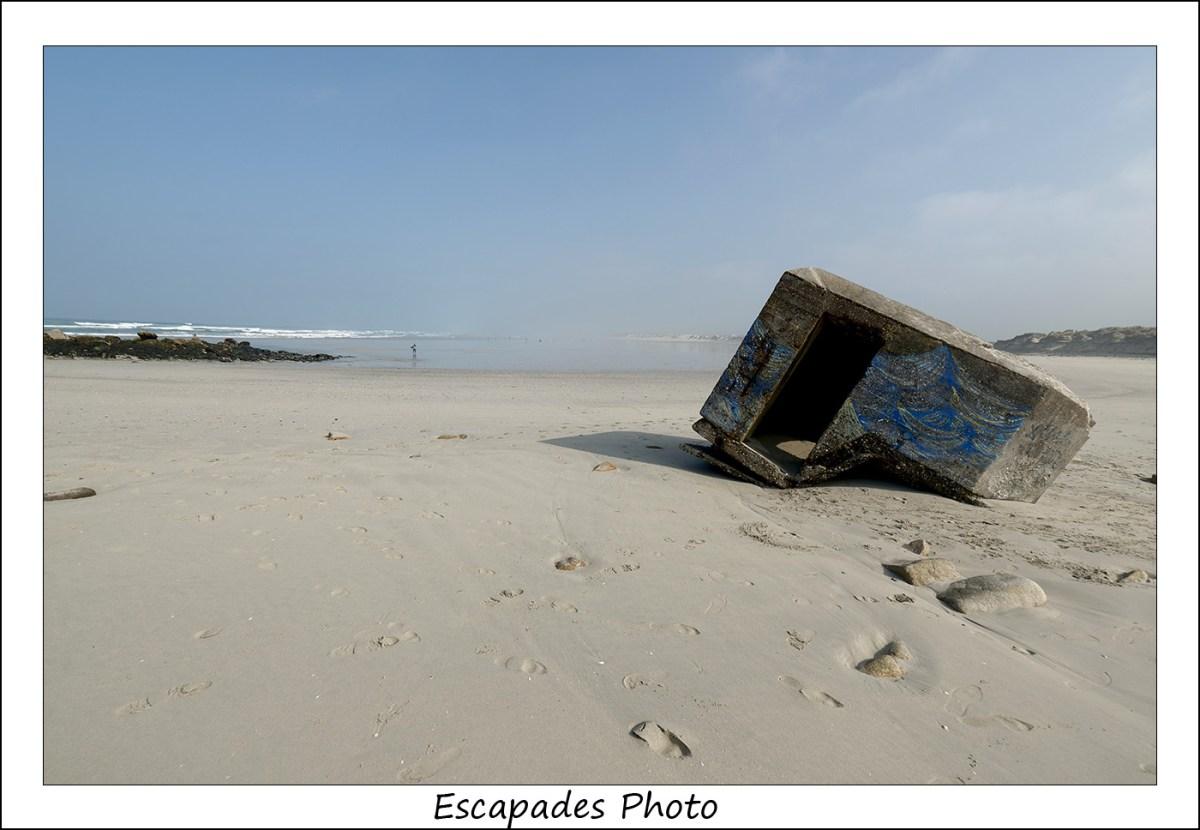 Blockhaus sur la plage de Tréguennec à la Pointe de la Torche