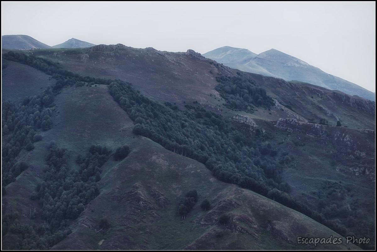 Le pic Argarai vu depuis Roncevaux