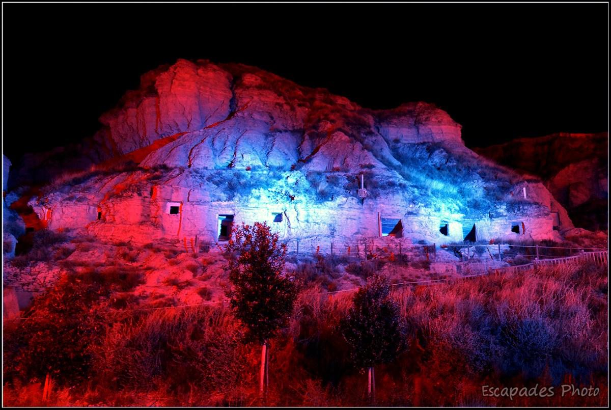 Troglodytes d'Arguedas - illuminations