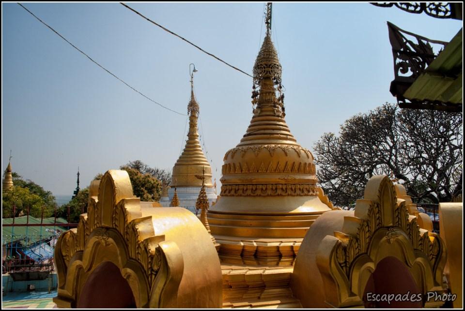 Stupa birman à Sagaing
