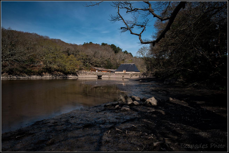 Moulin à marée du Hénan et étang
