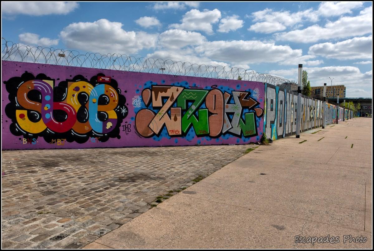 Graffs canal de l'Ourcq dans le 93