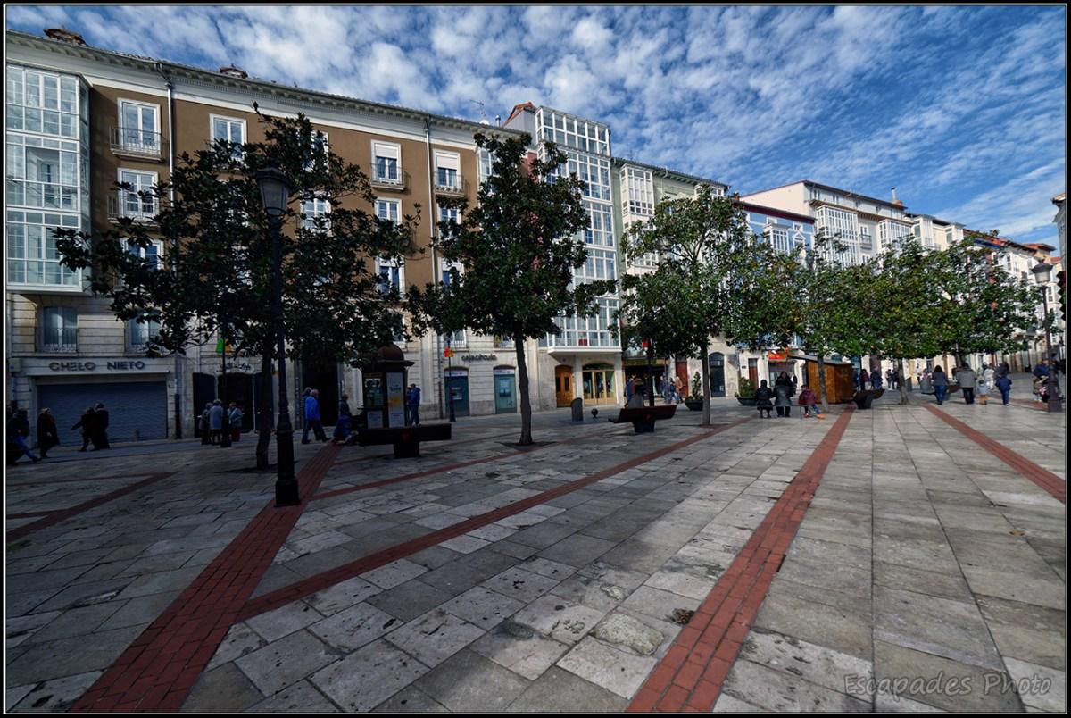 Burgos ville du bien-être, les espaces piétons