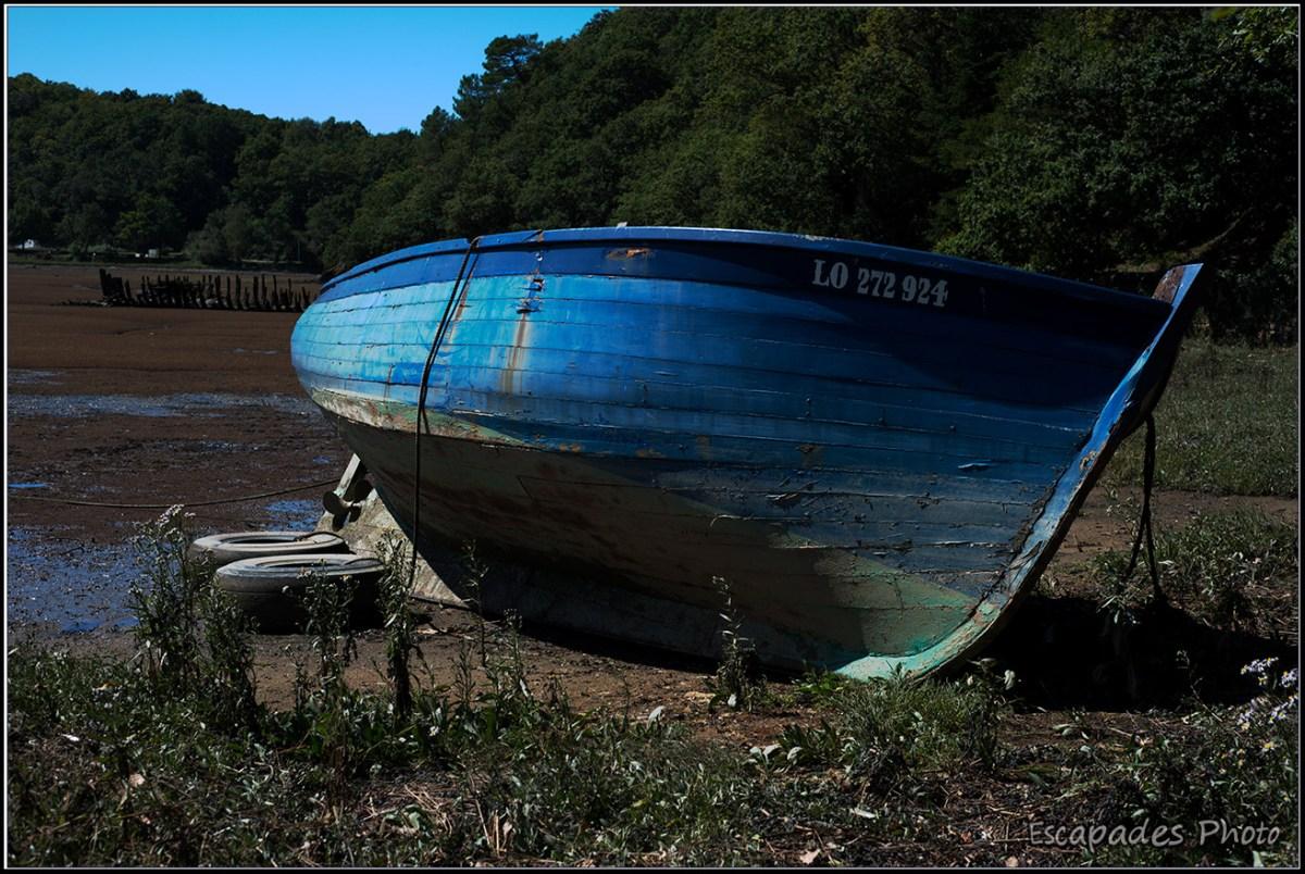 Cimetière de bateaux Kerhervy Lanester - chaloupe