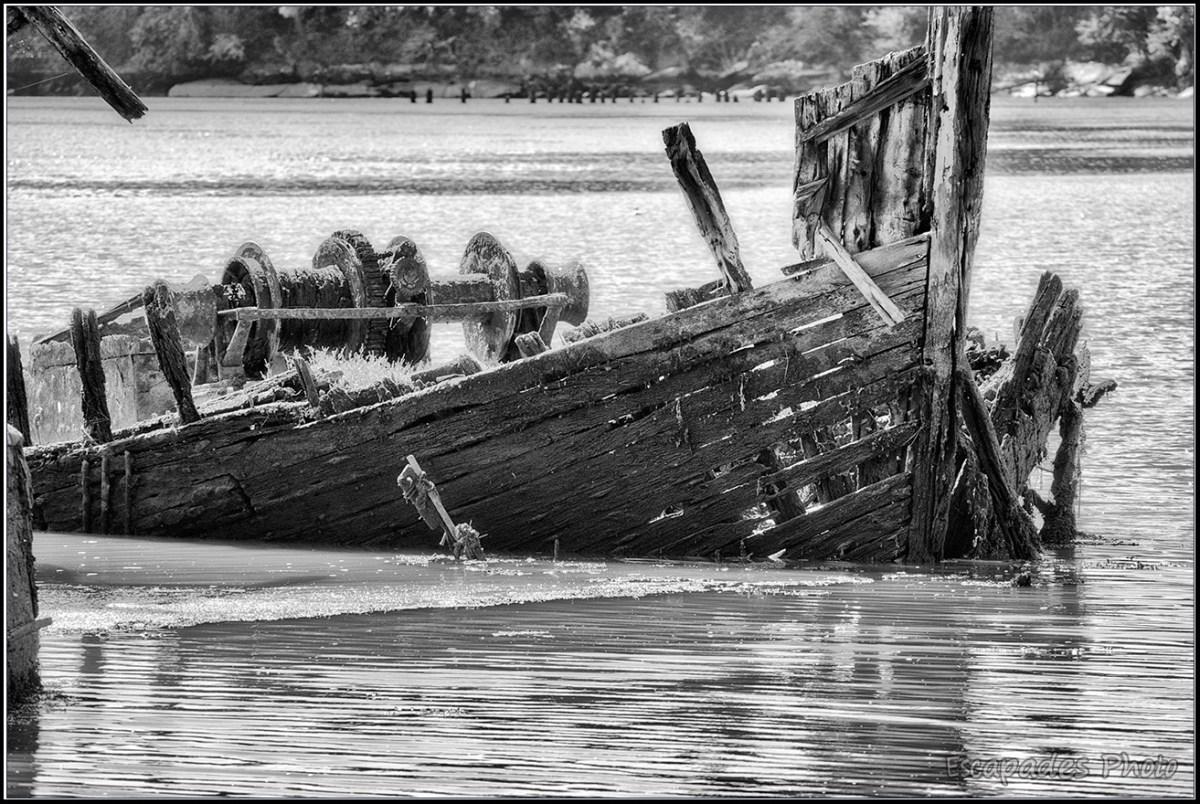 Lanester Kerhervy le cimetière de bateaux