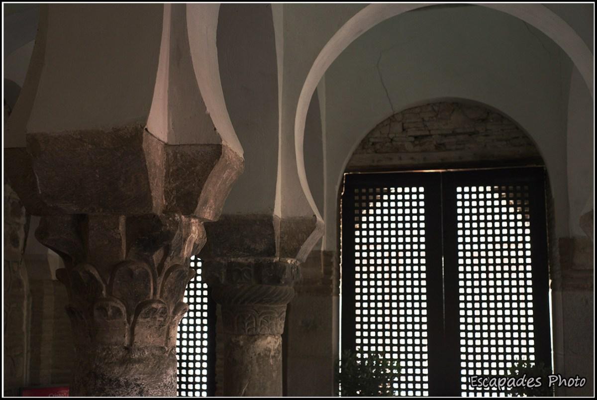 Colonnes wisigothiques à Cristo de Luz