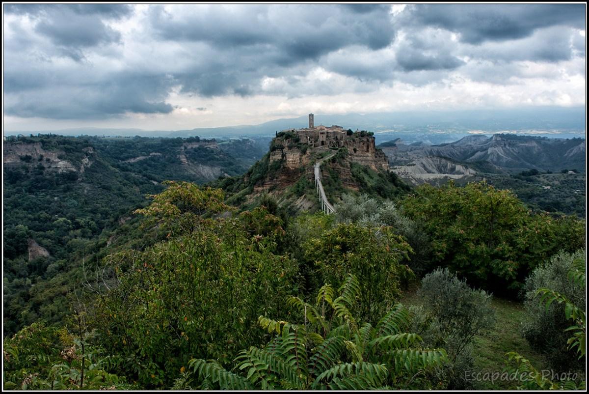 Civita di Bagnoregio la vue panoramique est spectaculaire
