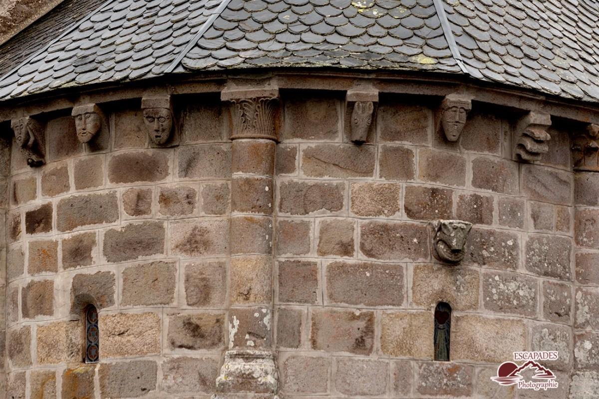 Modillons de l'église Saint-Blaise la Godivelle