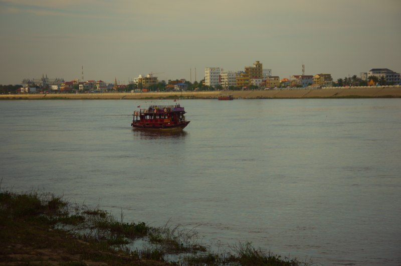 Auf dem Mekong - Phnom Phen