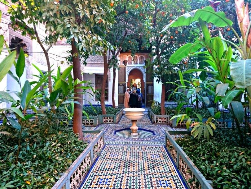 Innenhof des Bahia Palast in Marrakesch