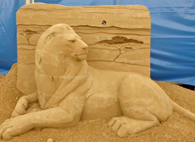 Sandskulpturen Festival Usedom: Safari in Afrika