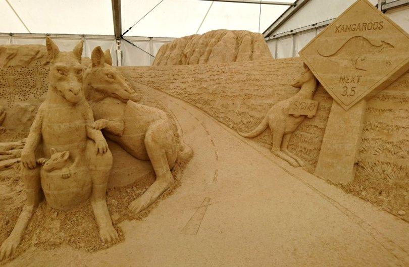 Australien beim Sandskulpturen Festival Usedom