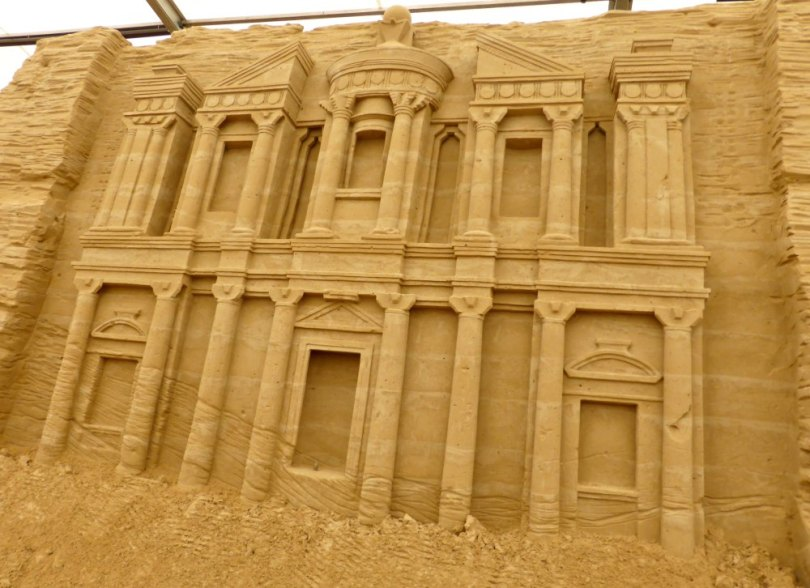 Sandskulpturen Festival Usedom: Petra in Jordanien