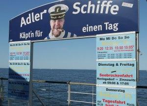 Usedom: Bootstouren mit Adler Schiffen