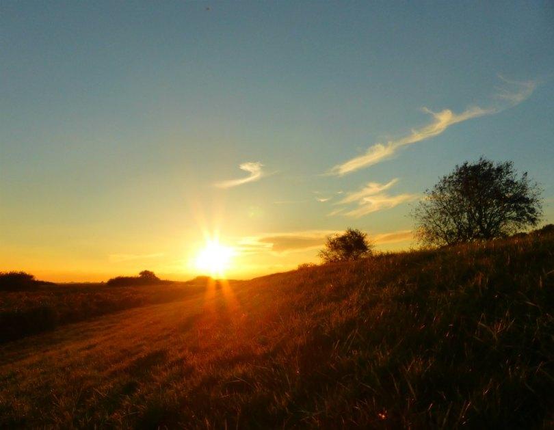 Sort Sol: Sonnenuntergang am Deich bei Tønder