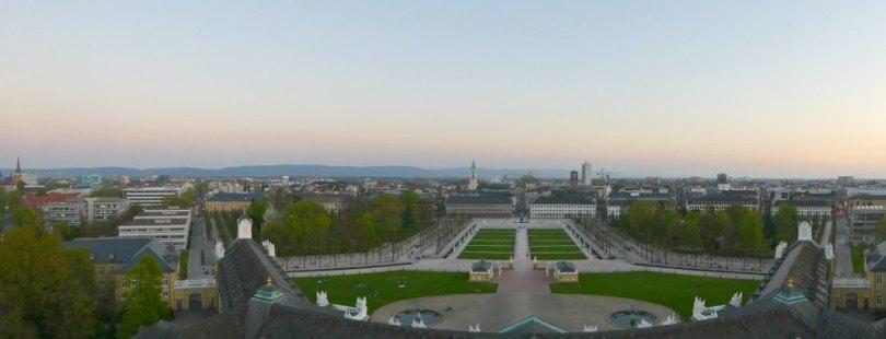 Blick vom Karlsruher Schlossturm