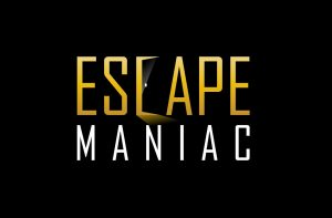 Escape Maniac Logo auf Schwarz