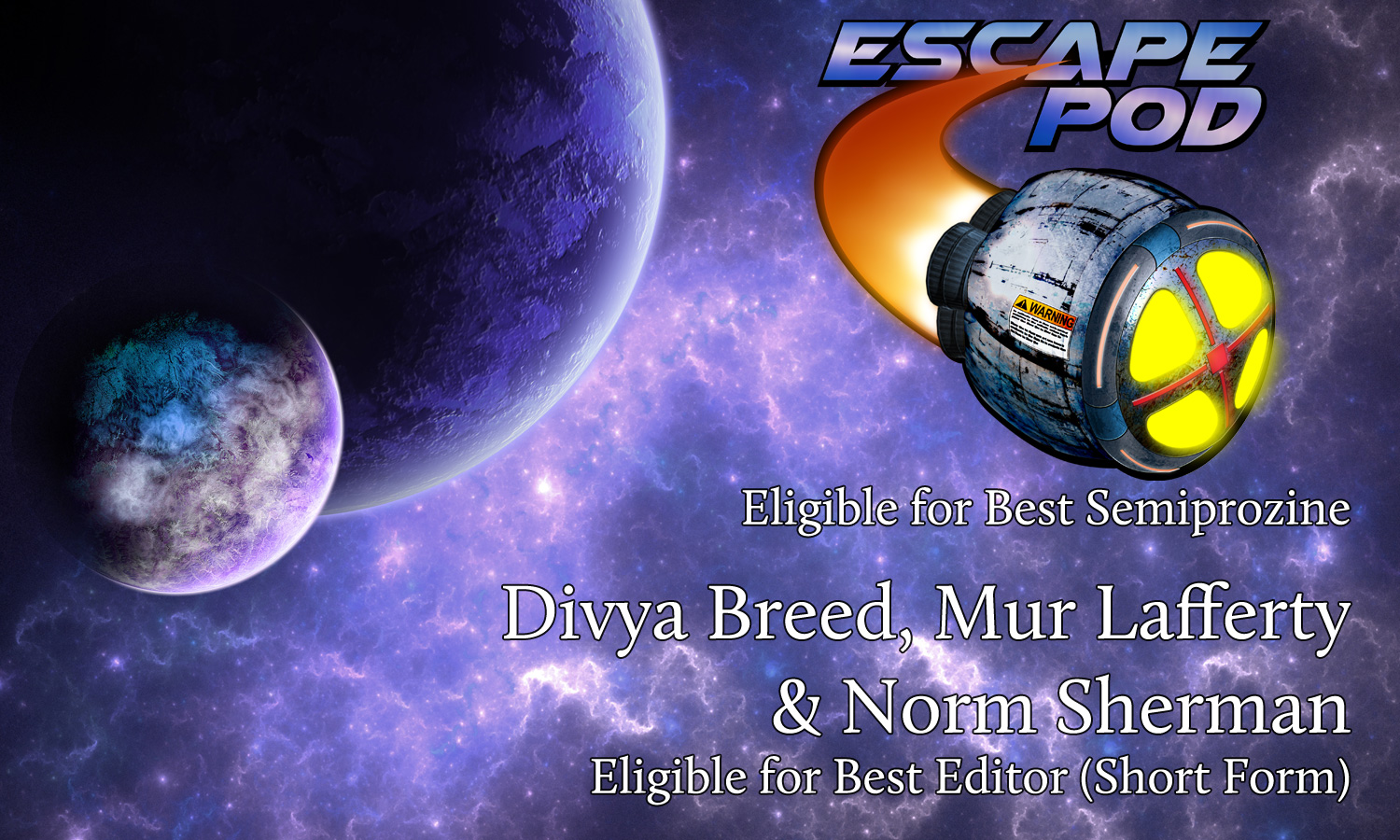 Escape Pod 2018 award eligibility