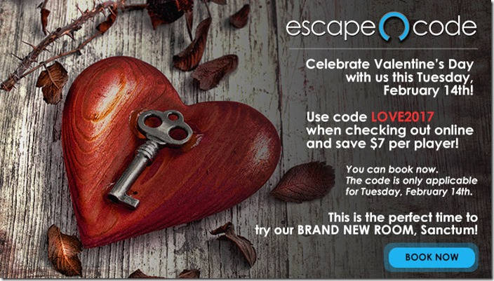 7 Off On Valentines Day At Escape Code In Branson