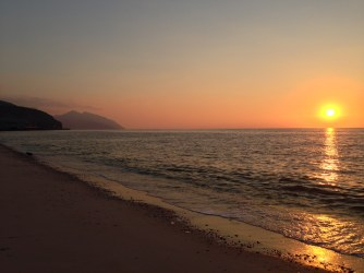 """Hence, [O believer], bear thou with patience whatever they may say, and extol thy Sustainer's limitless glory and praise before the rising of the sun and before its setting"" (50:39) [Musandam, Oman]."