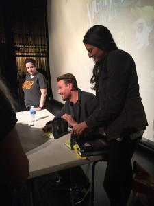 Jason Segel was so engaging with all the fans while he signed books.