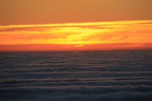 Sunset above the clouds = magical