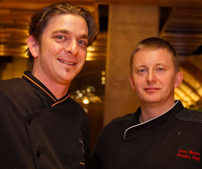 chefs jason weaver and cory garrsion