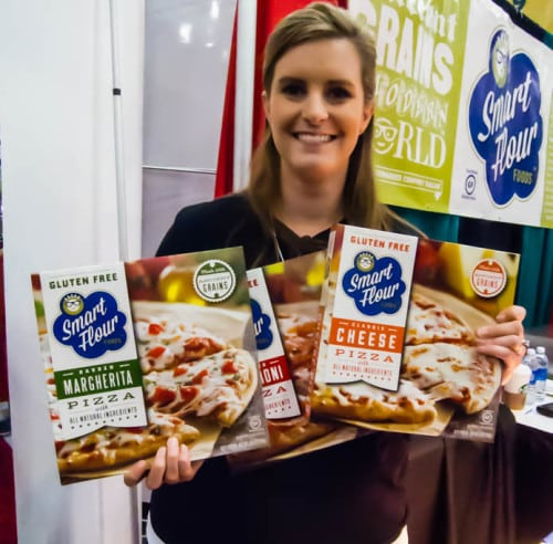 I'd never tasted a gluten free pizza dough that I liked until this one, from Smart Flour foods. The Smart Flour rep says you can buy their frozen pizzas at Central Market ($5) or pizzas built on their gluten-free crusts at Pie Five, Fireside Pies, Coal Vines and Campisi's