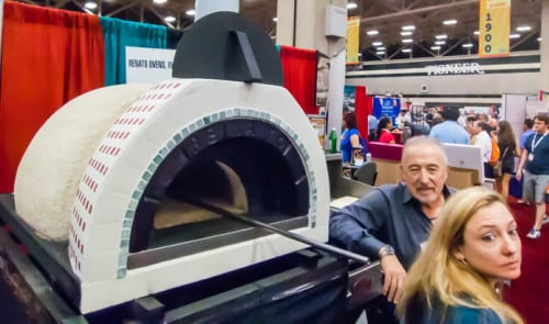 Of course, Dallas pizza oven maker Renato was there. You can buy one of Renato's wood-fired ovens for your home for as little as $2500.