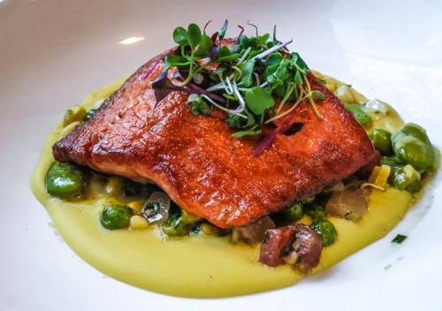 Copper River salmon at Dallas Chop House