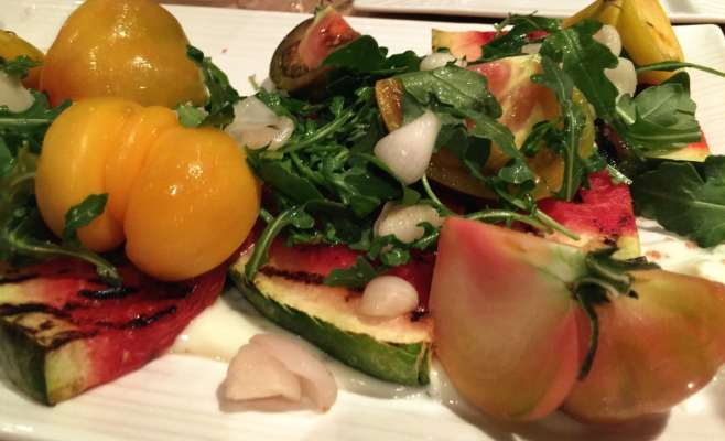 heirloom tomato salad NIck & Sam's steakhouse Sunda Supper