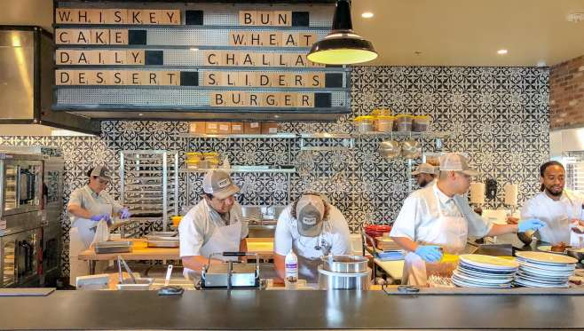 Whiskey Cake Kitchen and Bar in Las Colinas is a casual, farm to table restaurant with scratch cooking and a 400-label whiskey collection. Whiskey Cake is owned by Dallas-based Front Burner Restaurants. It is a cas