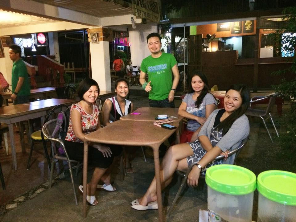 Good food with friends in Maginhawa St.