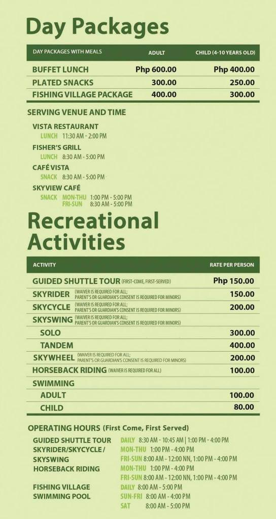 Eden Nature Park Entrance Fee