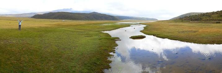 Limpiopungo, humedales que se conectan a la laguna principal