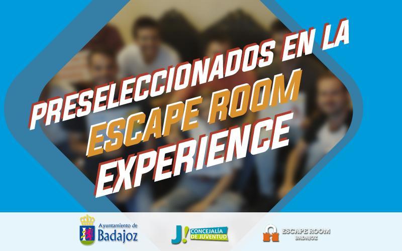 Preseleccionados Escape Room Experience – Vive la noche en Badajoz – 2020