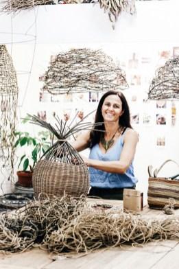 Harriet Goodall sculptural weaver, Robertson