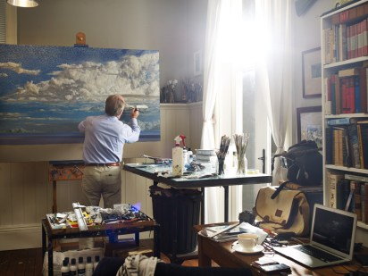 Tim Storrier in the Studio painting studio Gary Grealy 2015 Blad43815 1