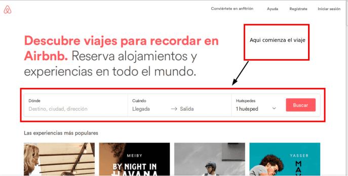 guia como usar airbnb - bandeja de entrada y filtros de página airbnb