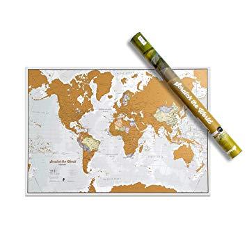 mapa regalo para viajeros en navidad