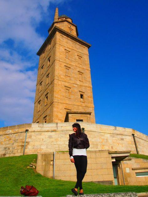 rutas por carretera 2019 España, torre de hércules La Coruña