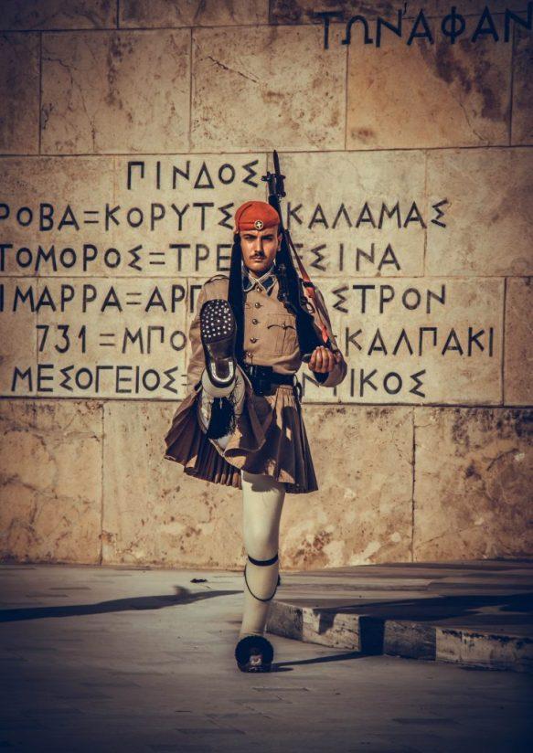 evzones cambio de guardia griega plaza syntagma
