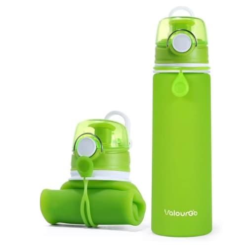Botella de agua plegable de silicona