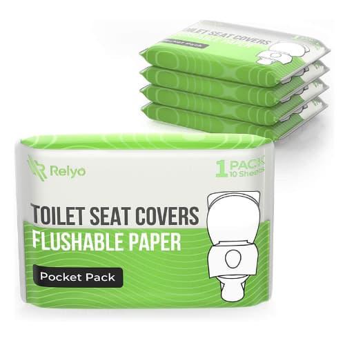 Fundas de asiento de inodoro de papel desechable