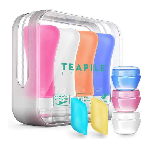 botellas de viaje de silicona accesorio de viaje