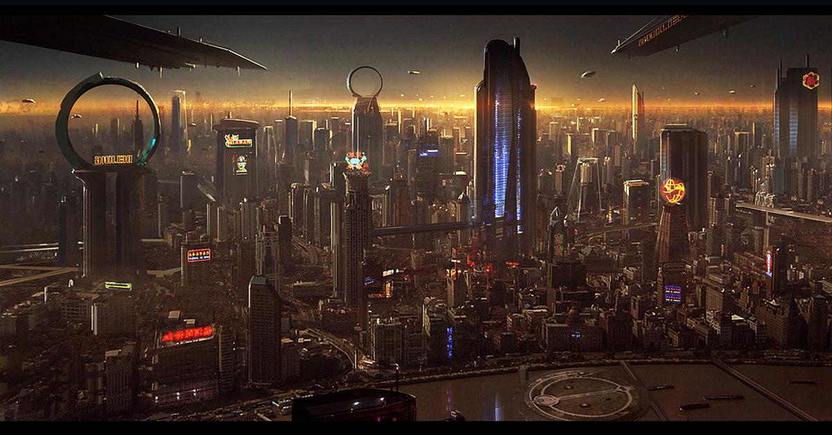 Aerial Shot - Shanghai - Star Citizen - Josh Kao