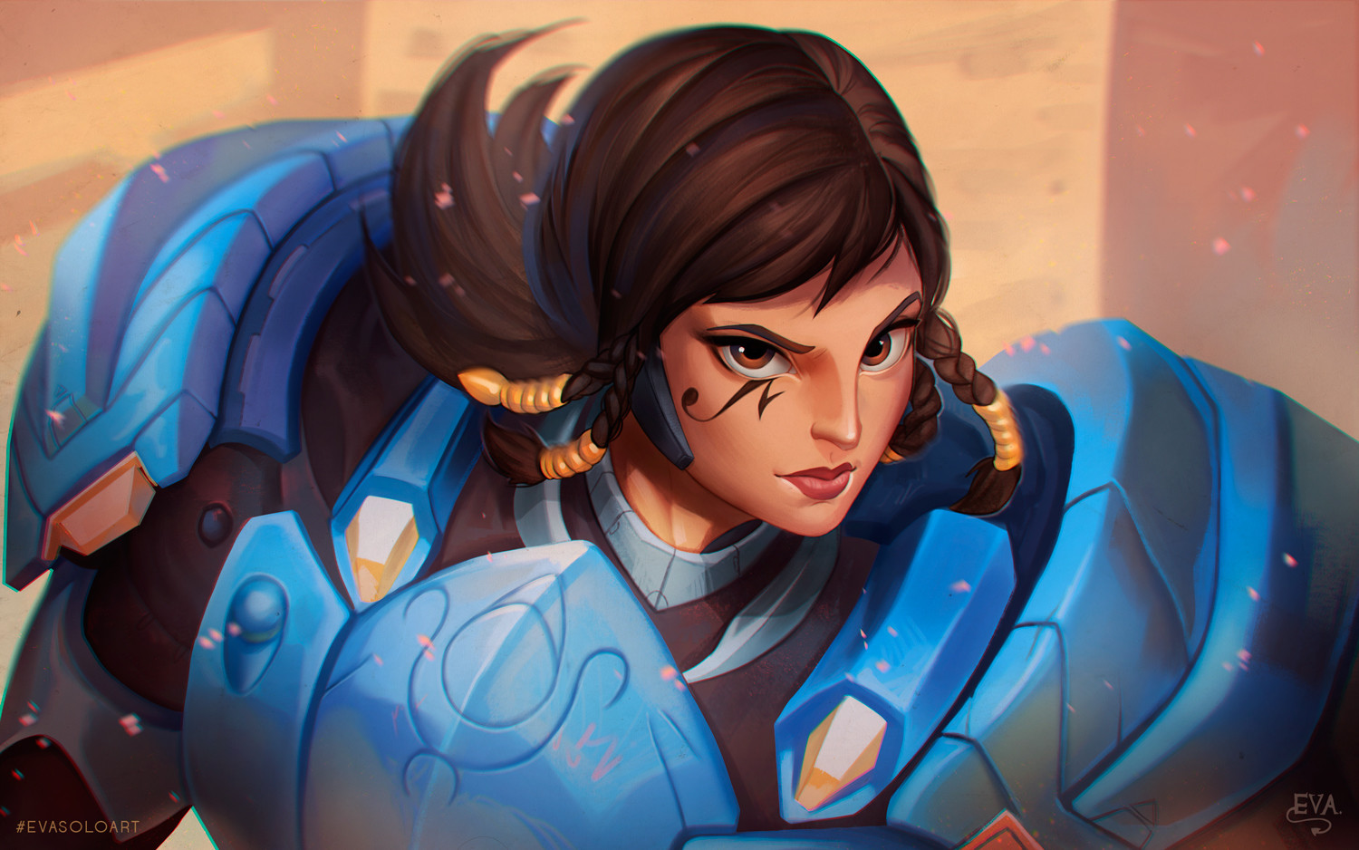 Eva Solo - Pharah Fan Art